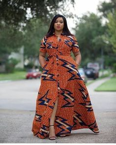 Orange African Print Dress/African Print Dress/African Clothing/African Fashion/African Maxi Dress/A Latest African Fashion Dresses, African Dresses For Women, African Print Dresses, African Print Fashion, Africa Fashion, African Attire, African Wear, Ethnic Fashion, African Style
