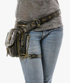Outlaw Pack - (Black) Thigh Holster, Protected Purse, Shoulder Holster, Handbag, Backpack, Purse, Messenger Bag, Fanny Pack