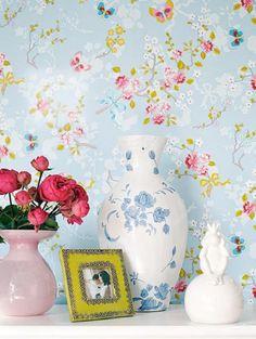 Papel de parede floral  http://joiasdolar.blogspot.com.br/