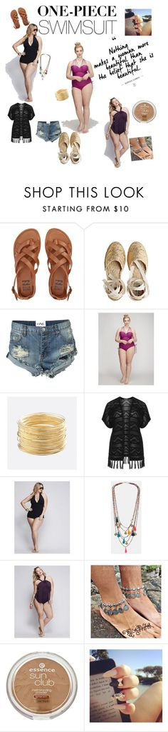 """Love Your Body"" by veronica22munoz on Polyvore featuring Billabong, Manebí, One Teaspoon, Cacique, Avenue, Verpass, Miraclesuit, MANGO and Lane Bryant"