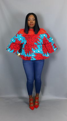 African print topAfrican print fabrictiered top African