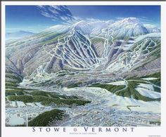 """""""Stowe+Trail+Map+Image""""+by+James+Niehues,+Loveland+//+Mt+Mansfield+is+the+highest+point+in+Vermont+at+4,395+feet.++This+Stowe+map+image+was+produced+in1990+and+the+mountain+portion+was+used+as+a+trail+map+until+2003.+//+Imagekind.com+--+Buy+stunning+fine+art+prints,+framed+prints+and+canvas+prints+directly+from+independent+working+artists+and+photographers."""