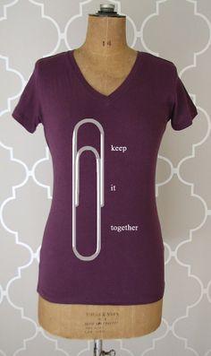 organizer shirt - vintage design KEEP IT TOGETHER t-shirt - women s plum v- 2098e9f0976d1