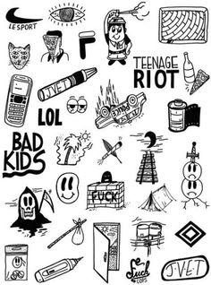 tattoo old school Kritzelei Tattoo, Tattoo Side, Doodle Tattoo, Dog Tattoos, Tattoo Fonts, Body Art Tattoos, Tattoos For Guys, Small Tattoos Men, Doodle Art