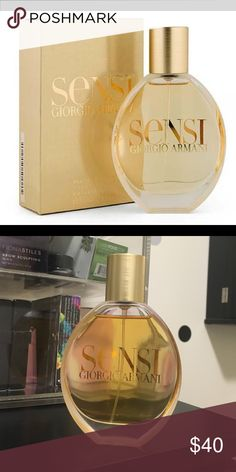 Georgio Armani Sensi perfume Beautiful once popular fragrance that has been discontinued & is very rare. Barely used ; does not come with box. 1.7 fl oz Georgio Armani Other