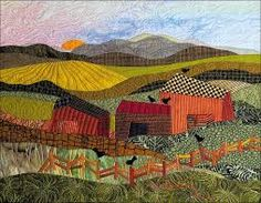 Twelve Life Lessons for Creativity The Retrospective and Introspective Insights from an Artist's Journey. Patchwork Quilting, Applique Quilts, Small Quilts, Mini Quilts, Quilting Projects, Quilting Designs, Landscape Art Quilts, Farm Quilt, Quilt Modernen