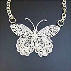 Turn lace into charmingly delicate pieces of jewelry!