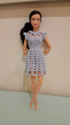 Barbie Cut Out Shell Stitch Dress - Free pattern