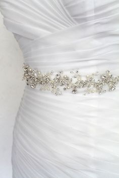 Silver Leaf Vine Bridal Sash. Boho Bohemian Crystal Pearl Wedding Dress  Belt Elegant Wedding e01d796c6