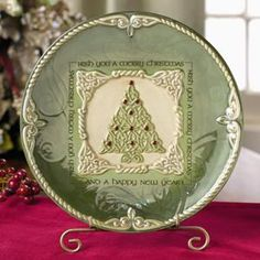 """Irish You a Merry Christmas and a Happy New Year"" ....Irish Christmas Dessert Plate"