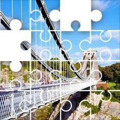 Clifton Bridge Jigsaw Puzzle, 48 Piece Classic. The Clifton Suspension Bridge, spanning the picturesque Avon Gorge, is the