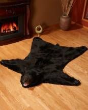 my Aunt & Uncle had one in their livingroom. I loved to lay on it with my head on the bear's head to watch TV. If only it would fit with my decor - sigh. Bear Skin Rug, Bear Rug, Adult Safari Party, Mountain Cottage, Bear Head, Black Bear, Rugs, Cottages, Bears