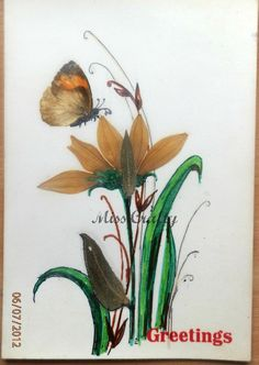 The Craft Gallery : Pressed Flowers - Greeting Cards - Part 2