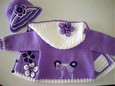 Saquito para nena crochet