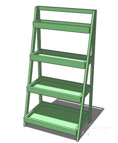 Ana White has step-by-step instructions on how to build this Painter's Ladder Shelf, a terrific space-saving shelf for the bathroom. Ladder Shelf Diy, Ladder Storage, Ladder Bookshelf, Ladder Display, Extra Storage, Display Shelves, Bookshelves, Easy Diy Projects, Wood Projects
