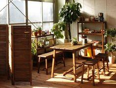 【幅90cm】おしゃれな天然木ベンチ:ナチュラル,アジアン&リゾート,ダークブラウン系,Home's Style(ホームズスタイル)のベンチ・ダイニングベンチの画像