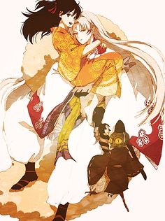 Sesshomaru, Rin and Jaken