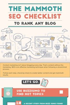 "The mammoth SEO Checklist shows the step-by-step process to rank any blog post in Google and other search engines. Follow this checklist ""check-by-check"" to start ranking your blog and getting targeted traffic. via @marketingtip"