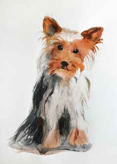 Hey, I found this really awesome Etsy listing at https://www.etsy.com/listing/226663335/pet-portrait-yorkshire-terrier-custom