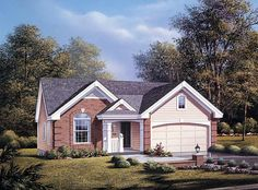 House Plan 87377 | Traditional Plan with 1268 Sq. Ft., 3 Bedrooms, 2 Bathrooms, 2 Car Garage