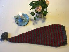 Strikket nissehue - str. barn-voksen Xmas, Christmas, Diy Crafts, Knitting, Projects, Inspiration, Cardigans, December, Log Projects