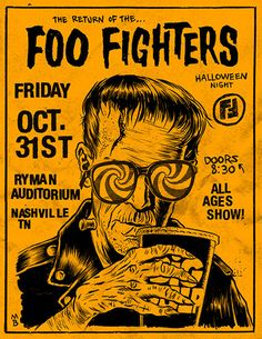 Foo Fighters flyer Sonic Highways Nashville show Poster Love, Poster Shop, Gig Poster, Punk Poster, Concert Festival, Concert Flyer, Tour Posters, Band Posters, Vintage Concert Posters