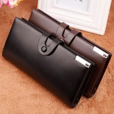 755b74729 Price tracker and history of hot sales men wallet brand famous England  style long card holders good high quality male clutch leather handbag  vintage wallets