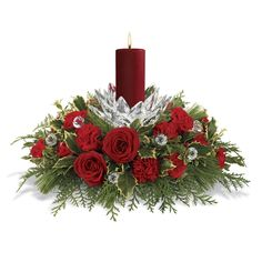 Give unique look to your table with our online Christmas centerpieces delivery. Send Christmas flowers centerpieces online to USA for Christmas decoration. Table Flower Arrangements, Christmas Flower Arrangements, Christmas Flowers, Christmas Candles, Flower Centerpieces, Christmas Wedding Centerpieces, Christmas Table Decorations, Merry Christmas To You, Nordic Christmas
