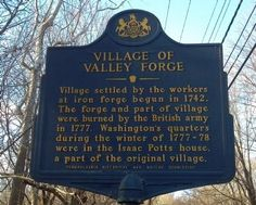 Village of Valley Forge Historical Marker History Education, Us History, American History, Route 66 Attractions, Declare Independence, Pennsylvania History, Continental Army, Valley Forge, American Revolutionary War