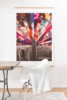 Buy Art Print And Hanger with Superstar New York designed by Bianca Green. One of many amazing home décor accessories items available at Deny Designs. Dorm Room Art, New York Art, Green Art, Home Decor Accessories, Superstar, Home Goods, Hanger, Tapestry, House Design