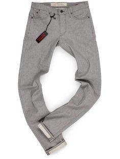 Williamsburg Garment Company, Inc - TALL MENS Heather Gray Raw Denim Jeans - GRAND ST, $176.00 (http://madeinusajeans.us/shop/tall-mens-heather-gray-raw-denim-jeans-grand-st/)
