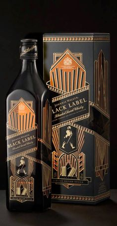 johnnie walker limited edition art deco bottle