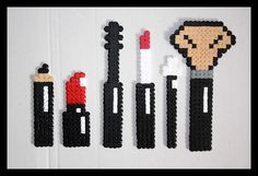 Make-up set hama beads by  Lesperlesdecha