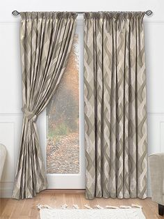 Spirale Cafe Au Lait Curtains from Curtains 2go