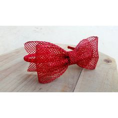 Red Glitter Netting Tuxedo Dior Hair Bow Holiday Headband Fancy... ($12) ❤ liked on Polyvore featuring accessories, hair accessories, grey, headbands & turbans, red headband, sparkly headbands, glitter hair bows, christmas hair bows and headband hair accessories