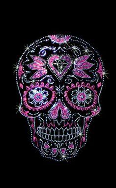 Womans Short Sleeve Top Rhinestones Studs Day of the Dead Sugar Skull with Diamond T Shirt Graphic 15467 Sugar Skull Tattoos, Sugar Skull Art, Sugar Skulls, Diamond T Shirt, Day Of The Dead Skull, Skull Artwork, Candy Skulls, Skulls And Roses, Rhinestone Transfers