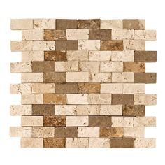 Mix Brick Travertine Mosaic - 12in. x 12in. - 932100216 | Floor and Decor