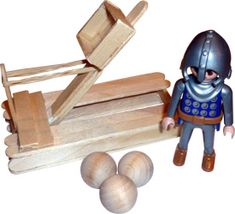 how to make a small catapult out of household items