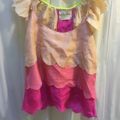 Chelsea flower silk top Small colorful silk top, soft on skin, tiered design Chelsea flower Tops Tank Tops