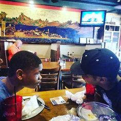 """""""Ya don't say"""". N-A-M-E-S #goodevening #consistency #brothers #convo #conversation #sons #love #family #nameslife #food #mood #black #italian #fresh #photooftheday #photoofthenight #lights #father #family #multimedia #artist #listen #style #cool #lit #follow   via Instagram"""