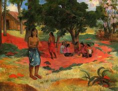 Whispered Words by Paul Gauguin   Medium: oil on canvas