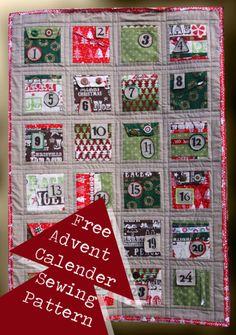 Christmas Advent Calendar Quilt – Free Pattern Download
