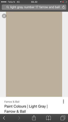 Light gray 17 farrow and ball - jbs kjøkkenluker Farrow And Ball Paint, Farrow Ball, Ball Lights, House Front, Light Colors, Paint Colors, New Homes, Grey, House Ideas