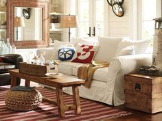 Living Room / IDEAS & INSPIRATIONS: Pottery Barn Living Room Decor Ideas & Living Room Inspirations - CotCozy