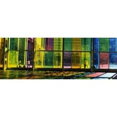 Multi-colored glass in a convention center Palais De Congres De Montreal Montreal Quebec Canada Canvas Art - Panoramic Images (36 x 13)