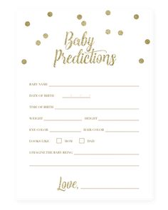 Printable Baby Prediction Quiz for Baby Shower - Printable baby prediction card. - Printable Baby Prediction Quiz for Baby Shower – Printable baby prediction card for gender neutr - Baby Shower Prediction Cards, Baby Gender Prediction, Baby Shower Advice, Baby Shower Games, Baby Shower Quiz, Shower Ideas, Baby Quiz, Wishes For Baby Cards, Baby Invitations