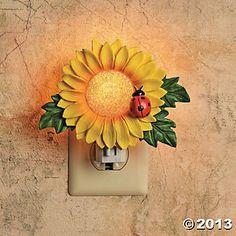 Sunflower Decor For Kitchen | Sunflower Night Light, Indoor Lighting, Home  Decor