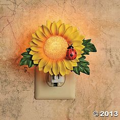 sunflower decor for kitchen | Sunflower Night-Light, Indoor Lighting, Home Decor - Terry's Village ...