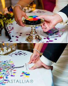 Árbol de recuerdos #boda #huellas #sellos