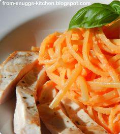 pasta mit paprika-pesto & hähnchen
